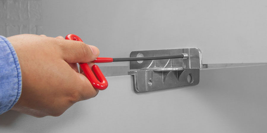 Cushioned T-Handle Hex Key is used to tighten and loosen 5/16 set screw