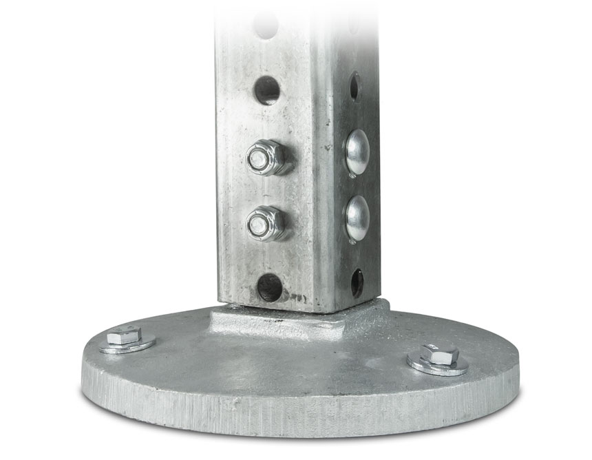 """2-3/8"""" Round post surface mount snap'n safe breakaway system"""