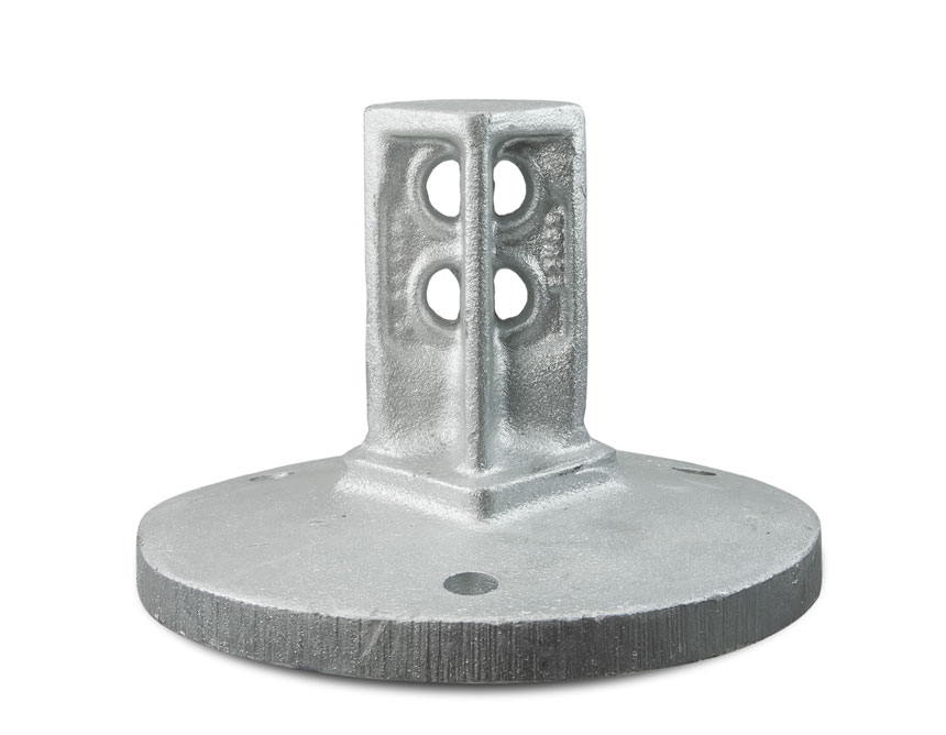 Round post surface mount snap'n safe breakaway system
