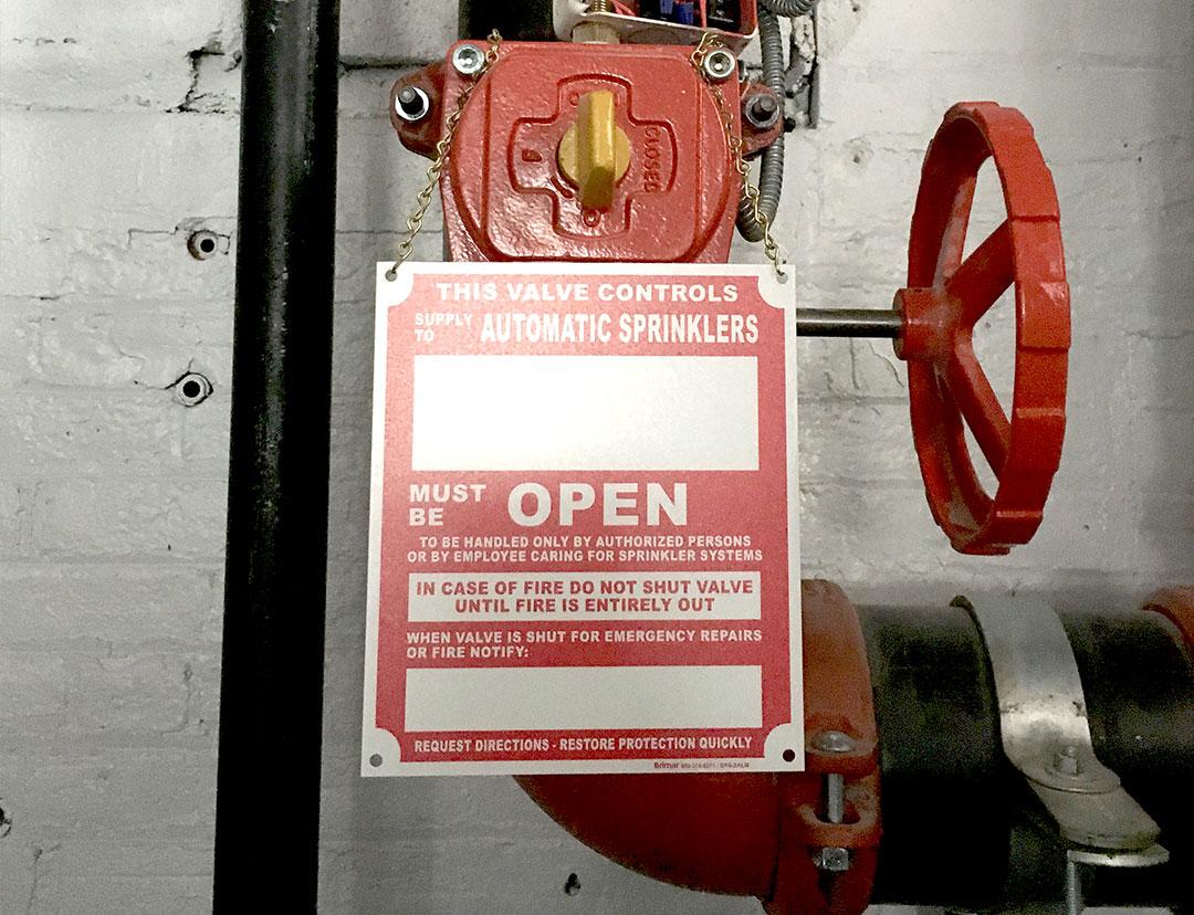 Automatic Sprinkler Sign Fcc Eded Acd E F Fa on Fire Sprinkler System Riser Diagram