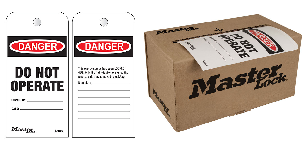 C3029-S4810 Do Not Operate Boxed Roll of Tags, English