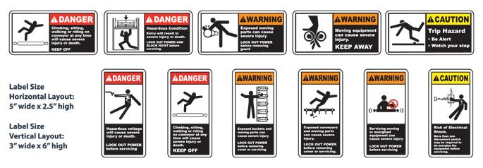 CEMA Conveyor Labels