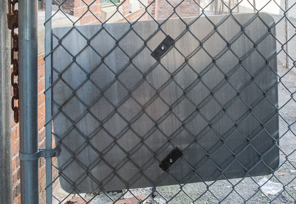Y3521 chain link fence brackets by SafetySign.com