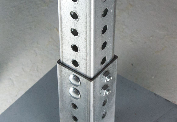 Image showing corner bolt installed