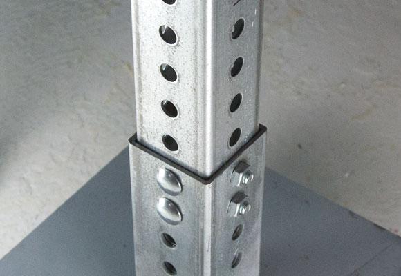 Image showing corner bolt securing anchor post to sign post