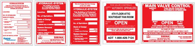Sprinkler System Plates