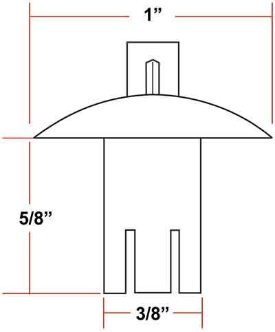 Drive rivets tamper resistant hardware for square posts