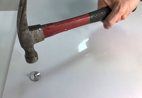 Image showing hammer about to hit the drive rivet