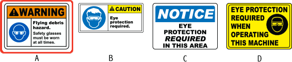 Eye Protection labels