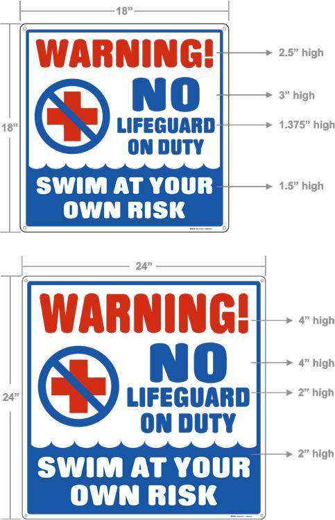 No Liguard On Duty Sign