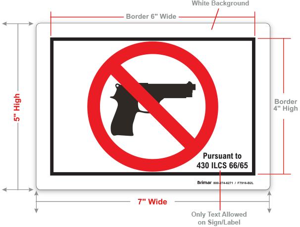 Illinois No Gun Label