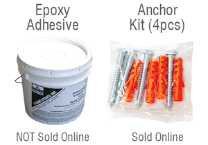 Epoxy adhesive and Anchor screws