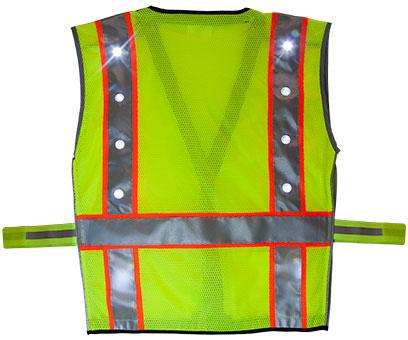 Green LED Vest Back