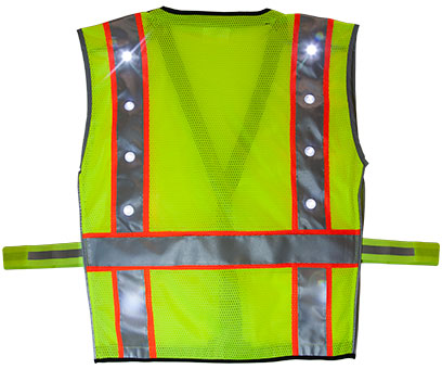 Green LED Vest Back