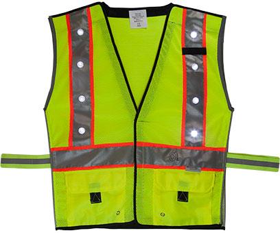 Green LED Vest Front