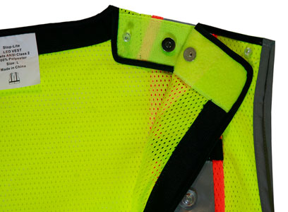 Green LED Vest Back Night Time