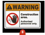 ANSI Z535.2-2011 Warning sign
