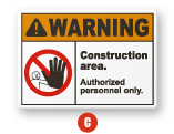ANSI Z535.2-2011 Warning sign