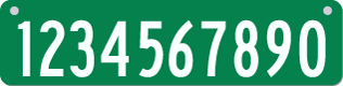 911 Address Sign Characters Chart