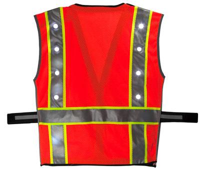 Orange LED Vest Back