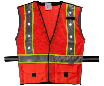 Orange LED Vest Front