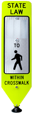 Pedestrian Crossing Panel MUTCD Compliant