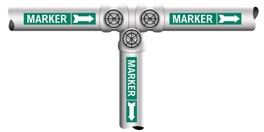 Pipe marker illustration