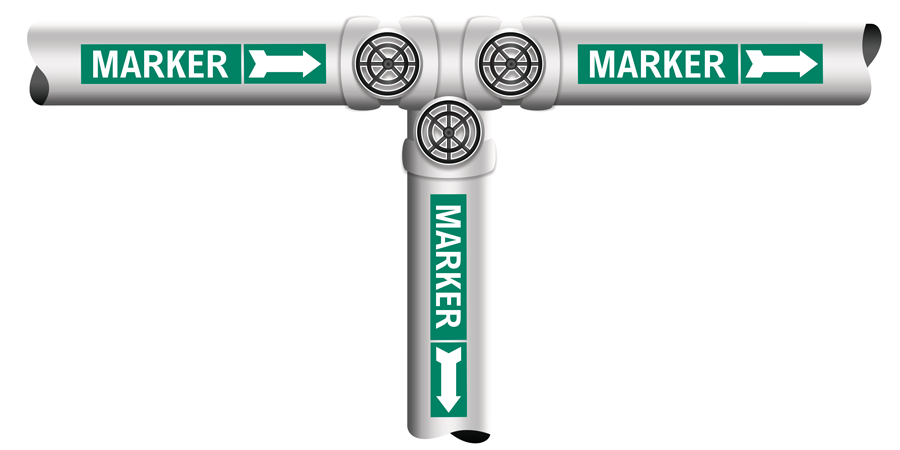 Pipe marker illustration