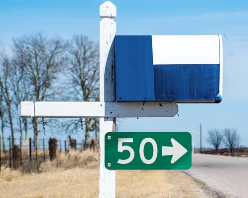 911 Address Signs with Directional arrow pointing away from the house