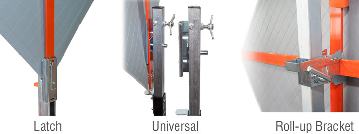 Roll-up sign bracket compatibility