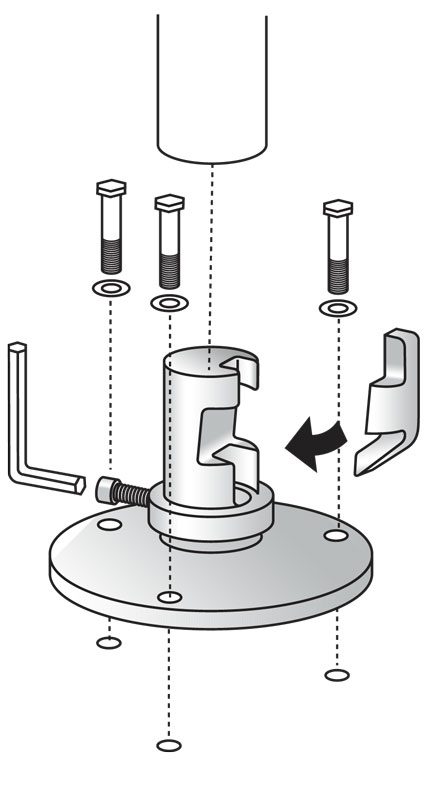SNAP'n SAFE Round Post Breakaway Coupler diagram