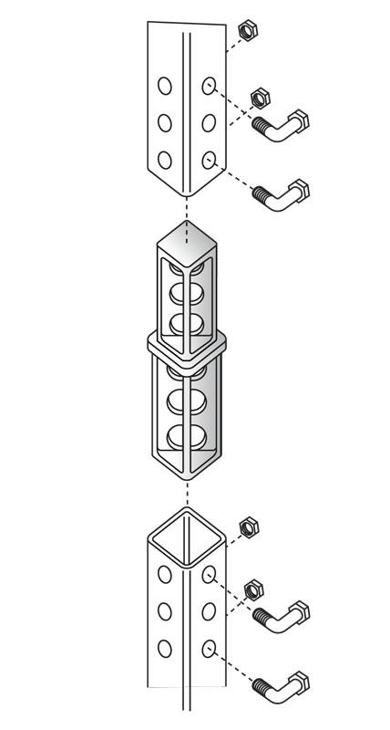 SNAP'n SAFE Square Post Breakaway Coupler diagram