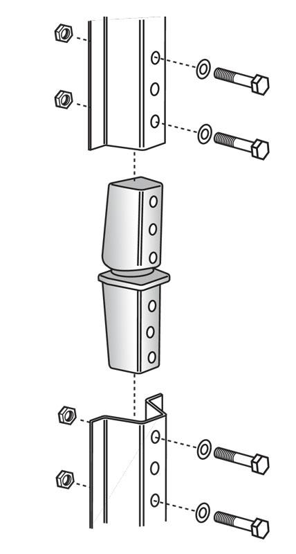 SNAP'n SAFE U-Channel Post Breakaway Coupler diagram
