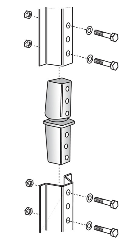 SNAP'n SAFE U-Channel Post Breakaway Coupler diagram