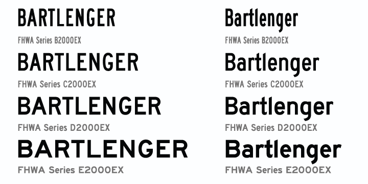 Different types of fonts we use