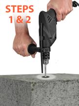 asphalt anchors installation step 1