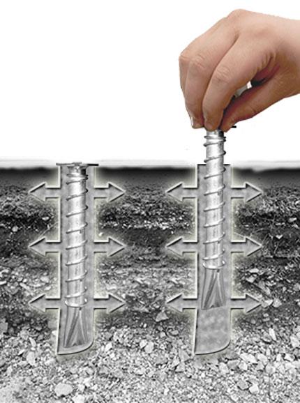 asphalt anchors installation step 3 insert anchor into fresh asphalt
