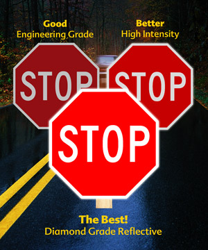 Stop signs viewing angles