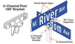 Street Name Sign Brackets
