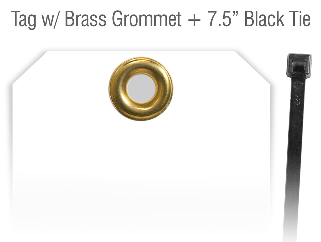 Tag with Grommet Tie