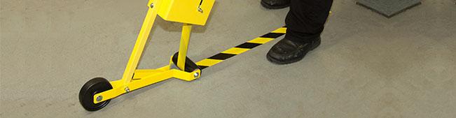 yellow vinyl floor marking tape -safetysign