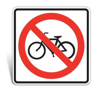 No Bicycle Signs