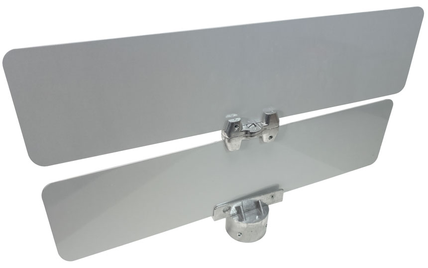 Mounted universal street sign bracket at 180 degree angle