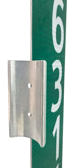 Wing bracket with address sign side view