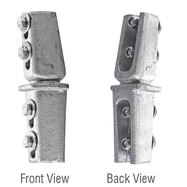 Detailed view of the u-channel post breakaway coupler