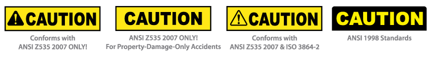 ANSI Z535.4 Safety Labels