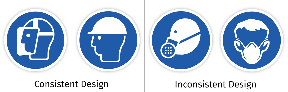 Comparison of consistent vs inconsistent designs
