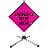 Emergency Scene Ahead Sign;