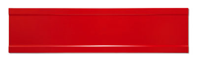 Blank Red Extruded Blade Street Name Sign