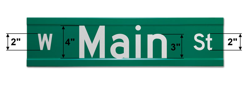 6″ Tall Extruded Street Sign